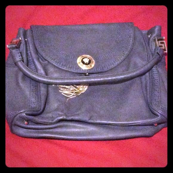 3b2cdb7c53 AUTHENTIC Gray Versace designer hand bag in VGC. M 5aa4b8a836b9de4d2e3a9eb7